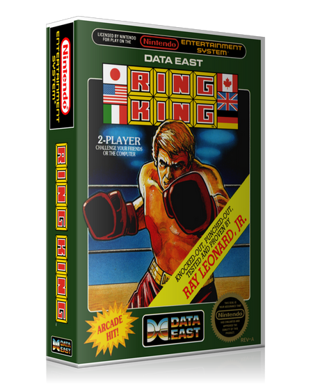 NES Ring King Retail Game Cover To Fit A UGC Style Replacement Game Case