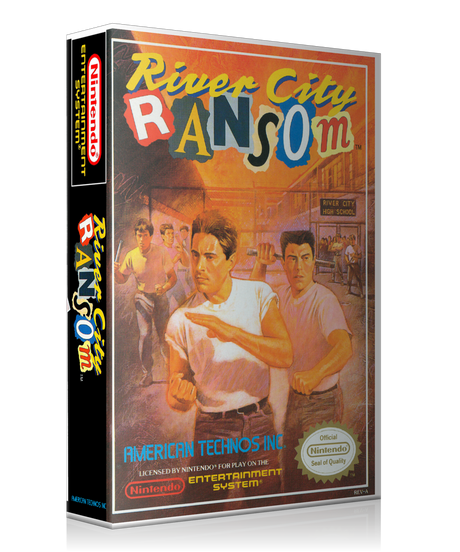 NES River City Ransom Retail Game Cover To Fit A UGC Style Replacement Game Case