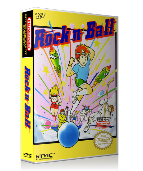 NES Rock N Ball Retail Game Cover To Fit A UGC Style Replacement Game Case