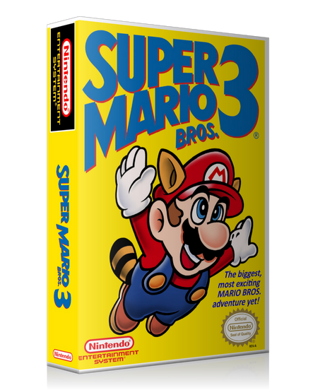 NES Super Mario Bros 3 Retail Game Cover To Fit A UGC Style Replacement Game Case
