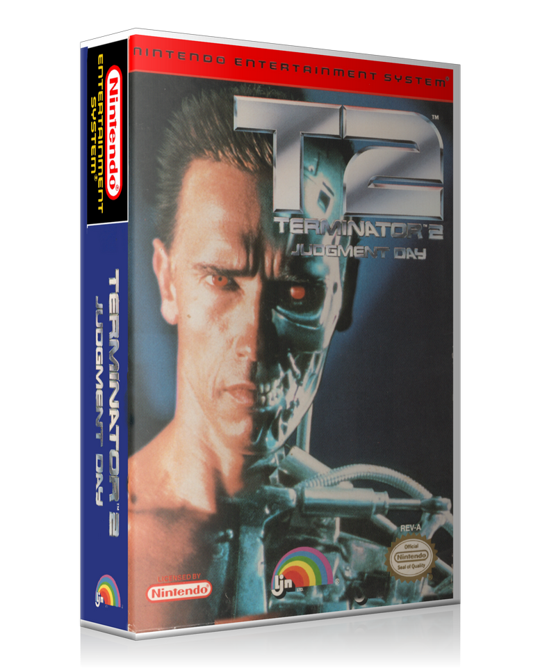 NES Terminator 2 Judgement Day Retail Game Cover To Fit A UGC Style Replacement Game Case