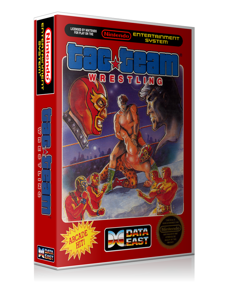NES Tag Team Wrestling Retail Game Cover To Fit A UGC Style Replacement Game Case