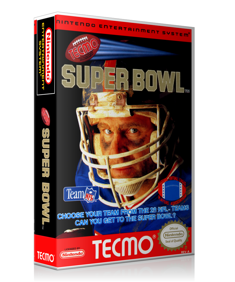 NES Tecmo Super Bowl Retail Game Cover To Fit A UGC Style Replacement Game Case