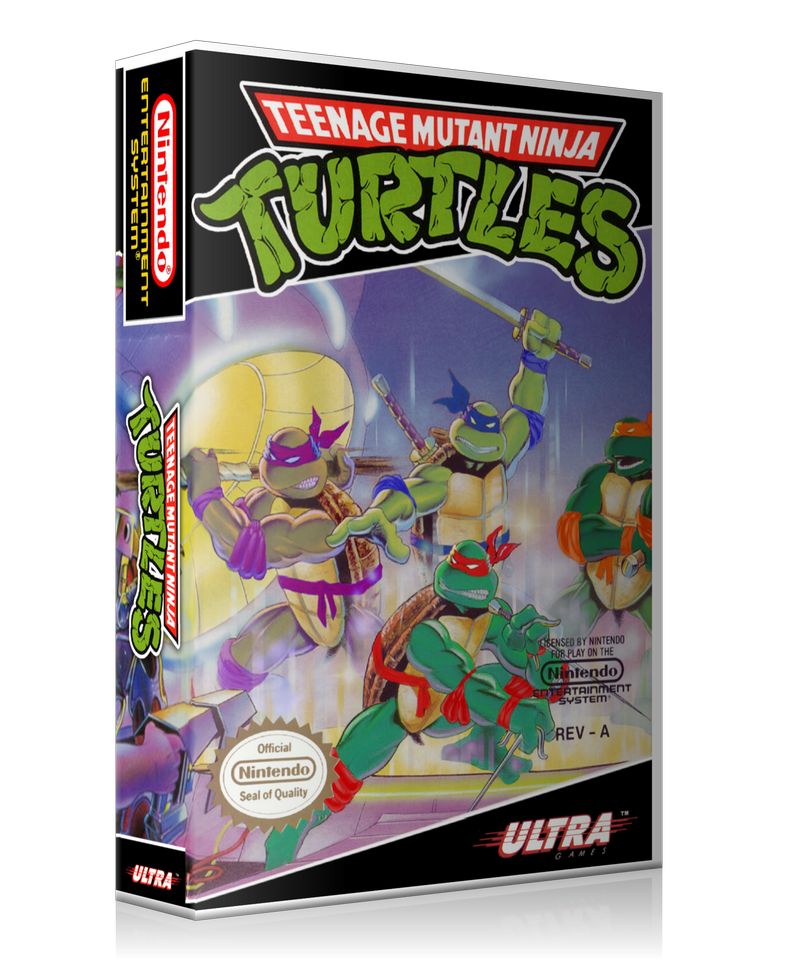 NES TMNT Retail Game Cover To Fit A UGC Style Replacement Game Case