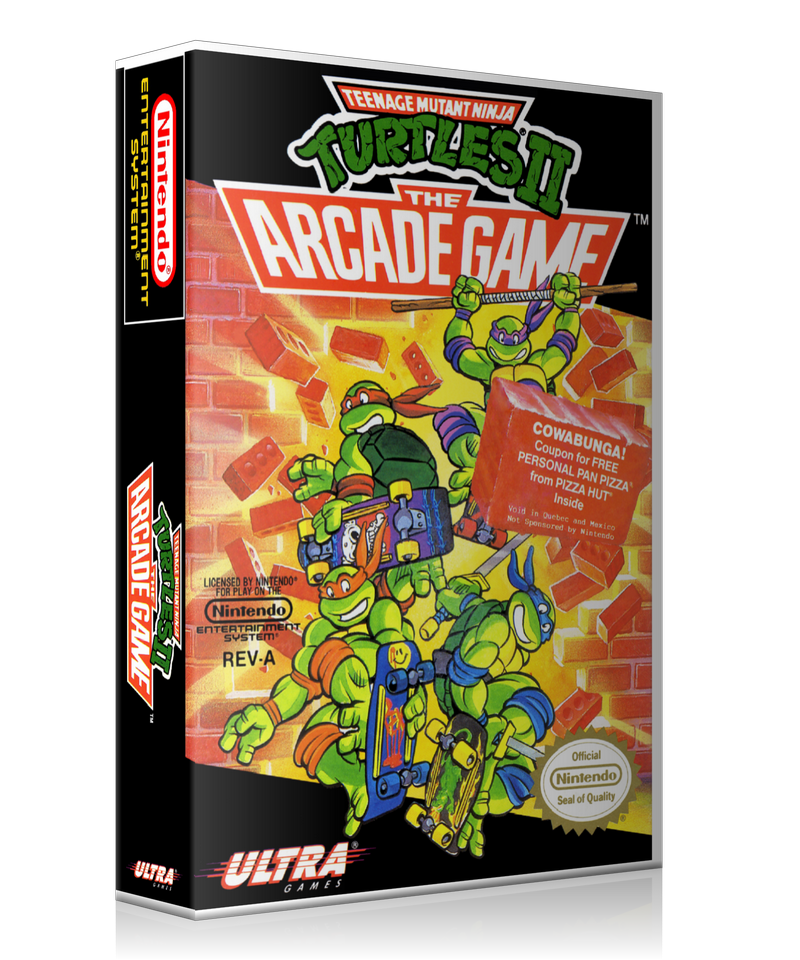 NES 581 TMNT 2 Arcade Retail Game Cover To Fit A UGC Style Replacement Game Case