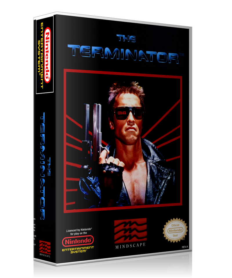 NES Terminator Retail Game Cover To Fit A UGC Style Replacement Game Case