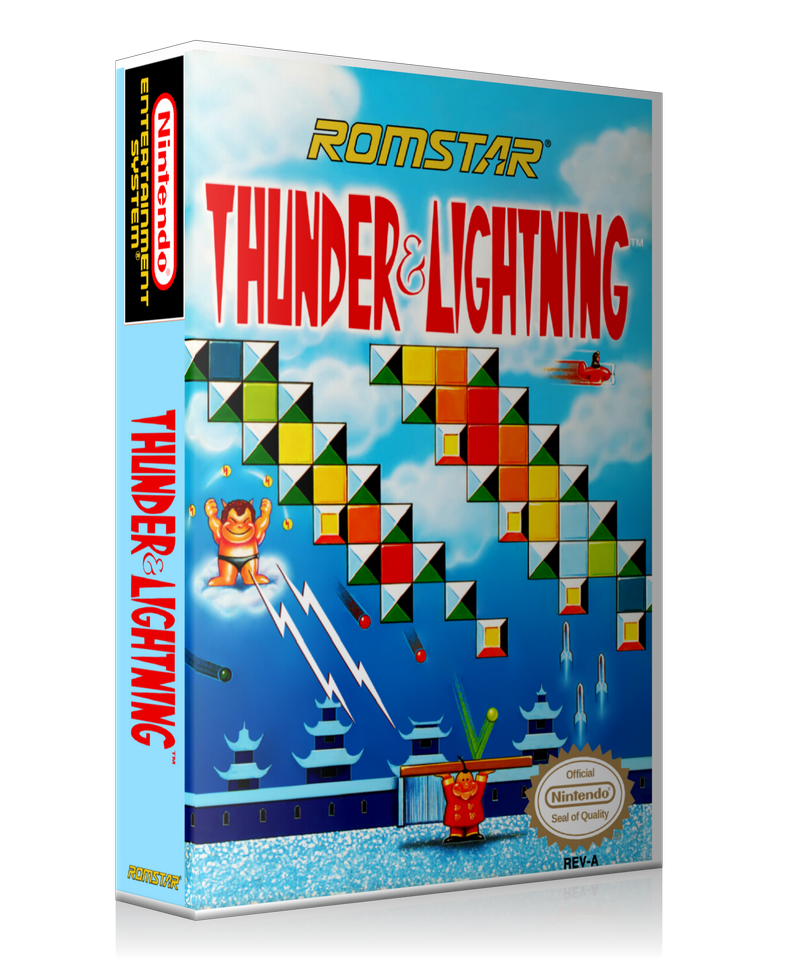 NES Thunder And Lightning Retail Game Cover To Fit A UGC Style Replacement Game Case