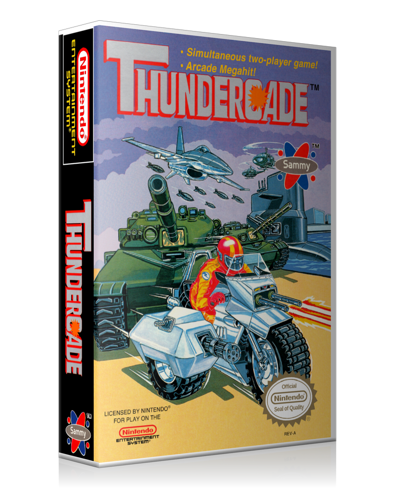 NES Thundercade Retail Game Cover To Fit A UGC Style Replacement Game Case