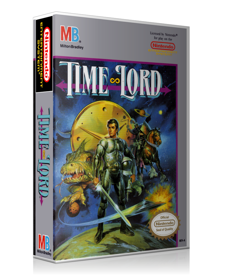 NES Time Lord Retail Game Cover To Fit A UGC Style Replacement Game Case