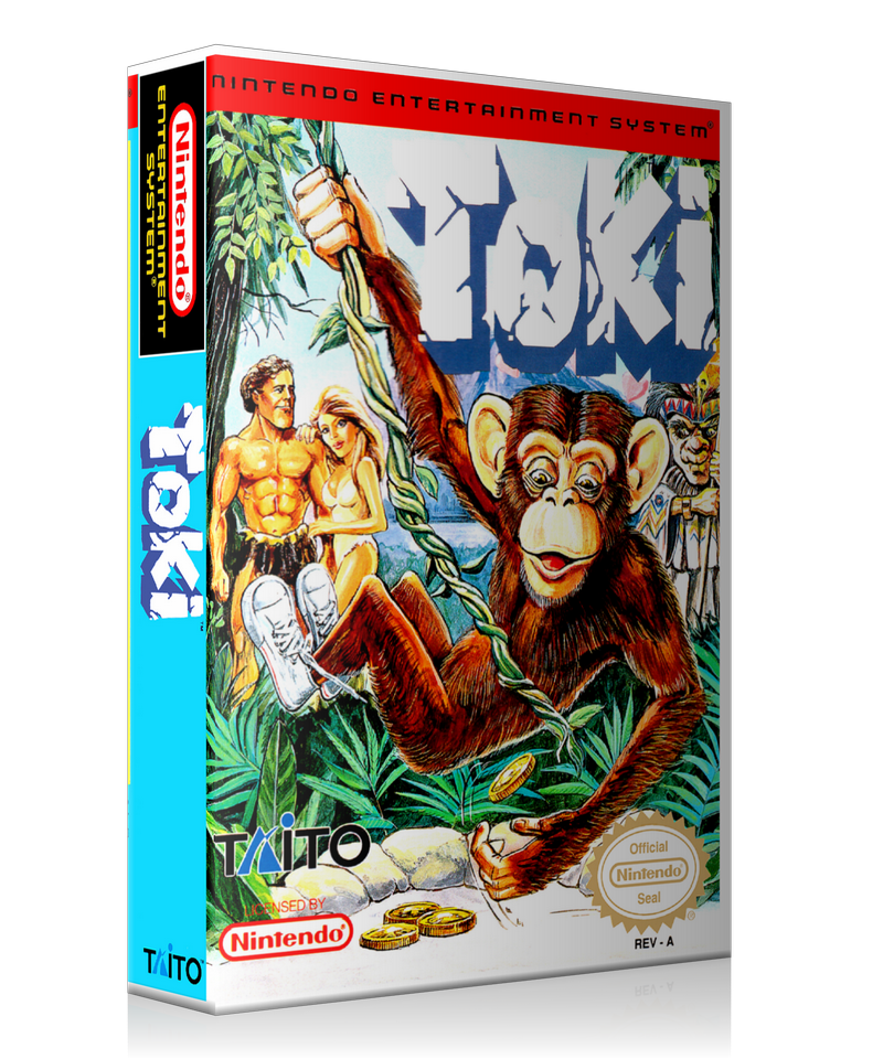 NES Toki Retail Game Cover To Fit A UGC Style Replacement Game Case