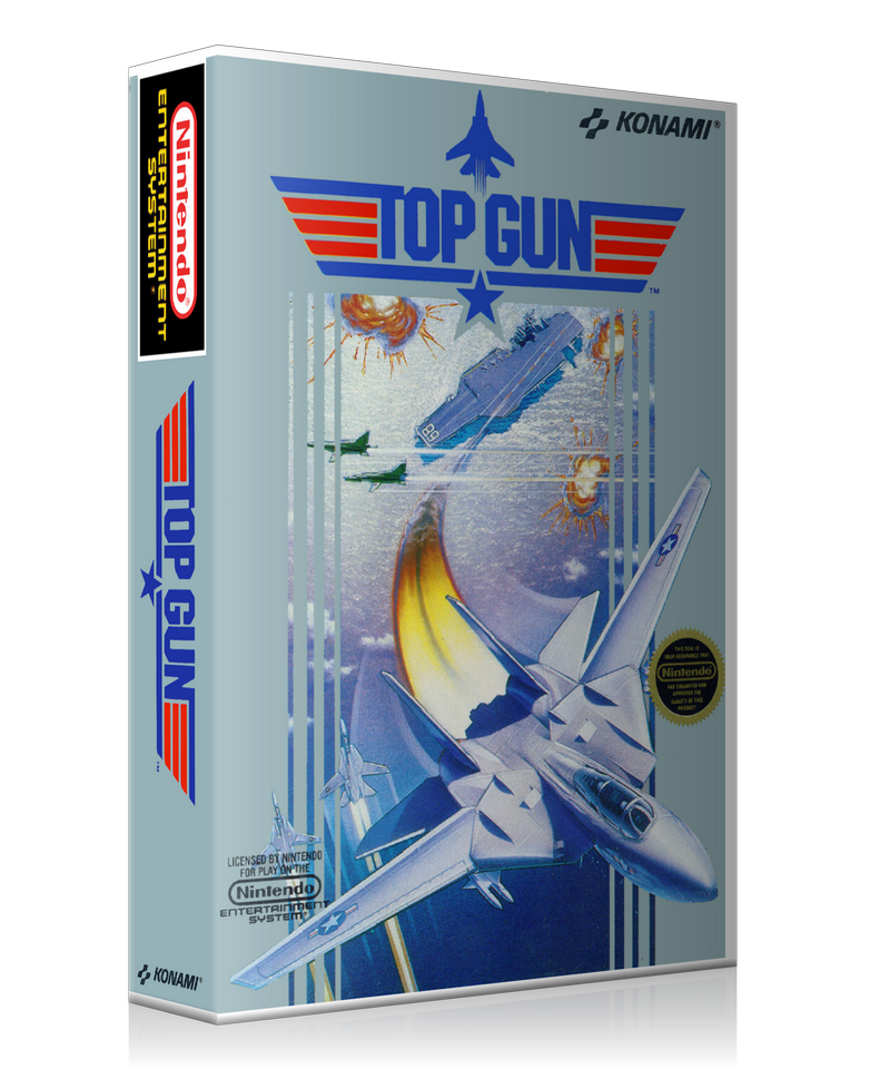 NES Topgun Retail Game Cover To Fit A UGC Style Replacement Game Case