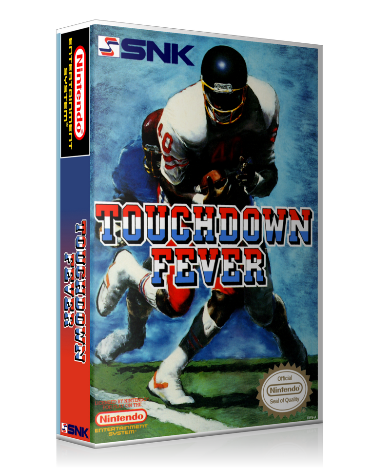 NES Touch Down Fever Retail Game Cover To Fit A UGC Style Replacement Game Case