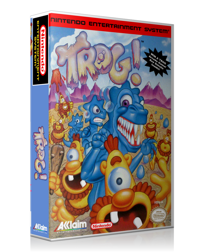 NES Trog Retail Game Cover To Fit A UGC Style Replacement Game Case