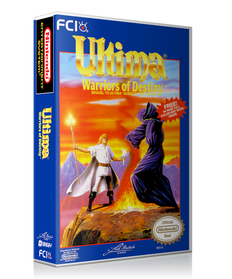 NES Ultima 5 Retail Game Cover To Fit A UGC Style Replacement Game Case