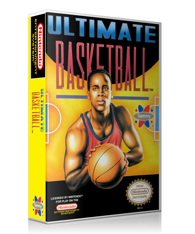 NES Ultimate Basketball Retail Game Cover To Fit A UGC Style Replacement Game Case