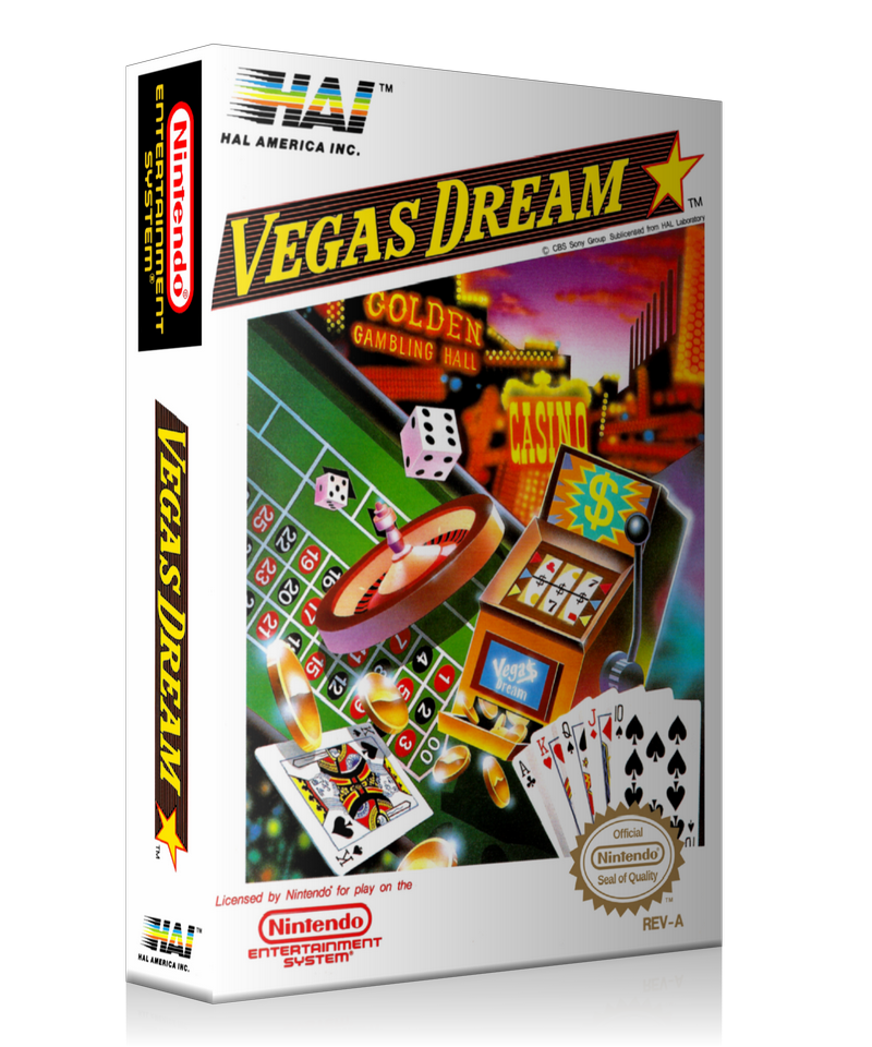 NES Vegas Dream Retail Game Cover To Fit A UGC Style Replacement Game Case