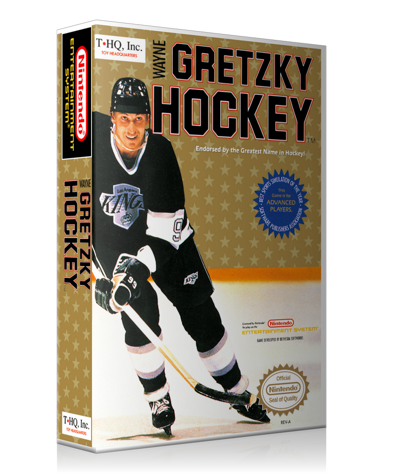 NES Wayne Gretzky Hockey Retail Game Cover To Fit A UGC Style Replacement Game Case