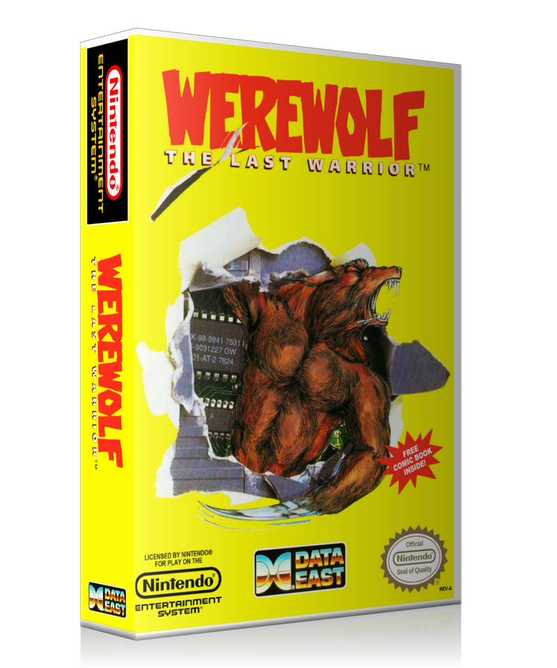 NES Werewolf Comic Retail Game Cover To Fit A UGC Style Replacement Game Case