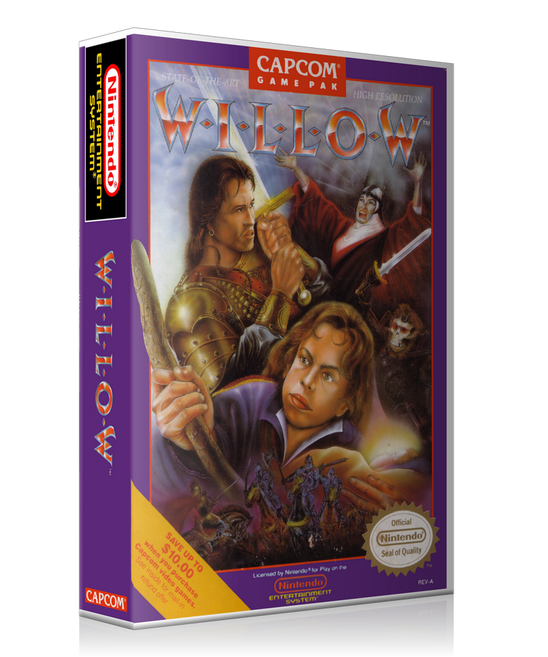 NES Willow Retail Game Cover To Fit A UGC Style Replacement Game Case