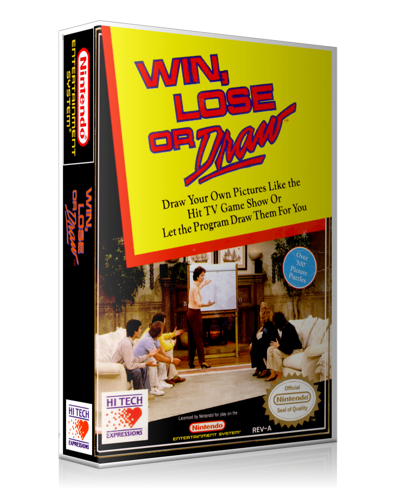 NES Win Lose Or Draw Retail Game Cover To Fit A UGC Style Replacement Game Case