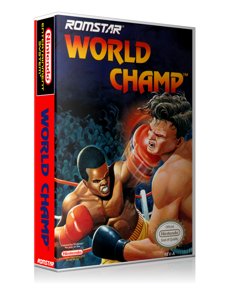 NES World Champ Retail Game Cover To Fit A UGC Style Replacement Game Case