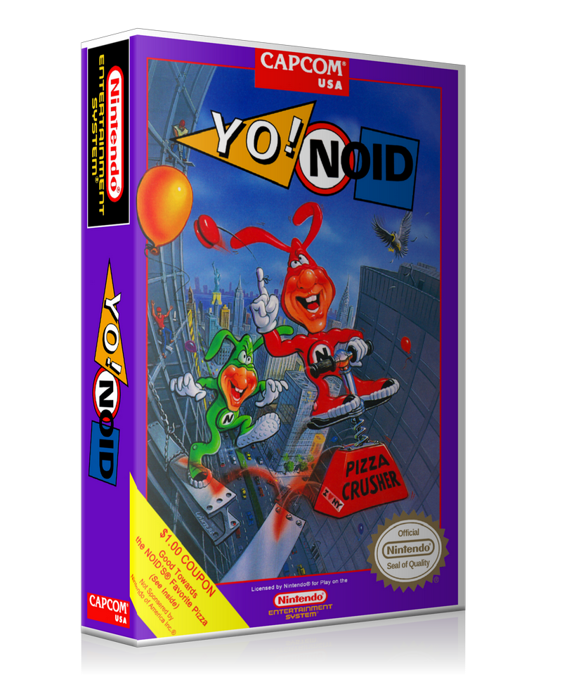 NES YO! Noid Retail Game Cover To Fit A UGC Style Replacement Game Case