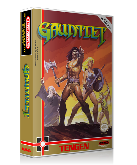 NES Gauntlet Retail Game Cover To Fit A UGC Style Replacement Game Case