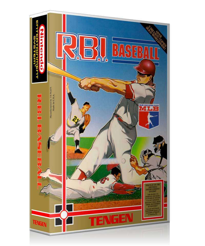 NES RBI Baseball Retail Game Cover To Fit A UGC Style Replacement Game Case