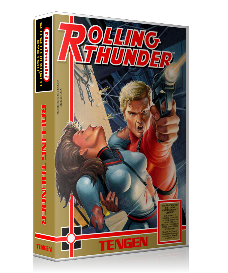 NES Rolling Thunder Retail Game Cover To Fit A UGC Style Replacement Game Case