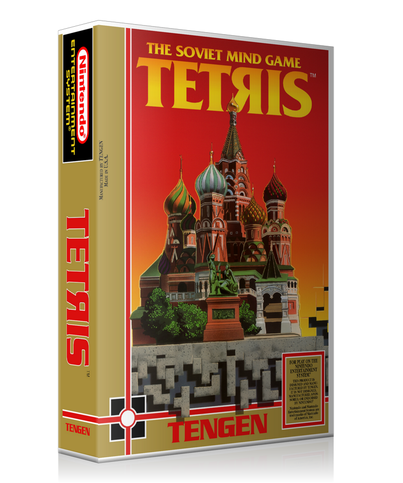 NES Tetris Retail Game Cover To Fit A UGC Style Replacement Game Case