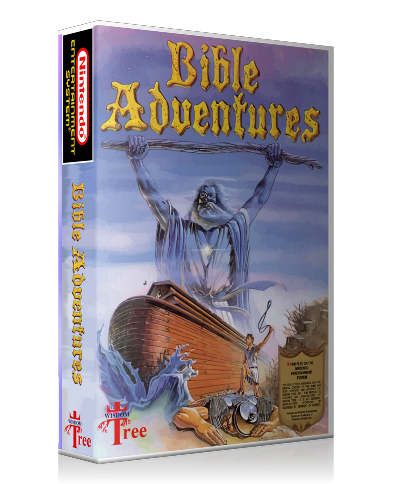 NES Bible Adventures Retail Game Cover To Fit A UGC Style Replacement Game  Case