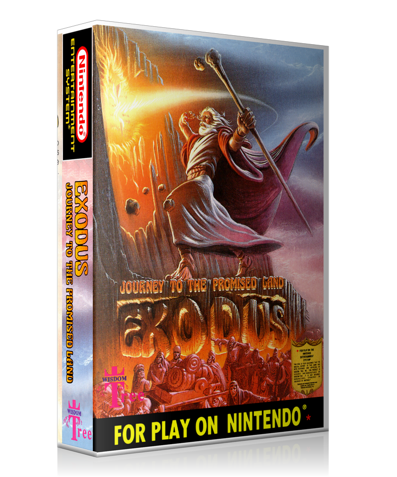 NES Exodus Retail Game Cover To Fit A UGC Style Replacement Game Case