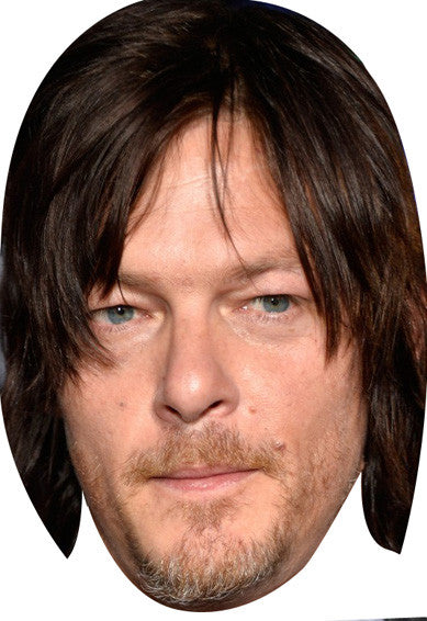 Norman Reedus Walking Dead 2018 Celebrity Face Mask FANCY DRESS HEN BIRTHDAY PARTY FUN STAG DO HEN