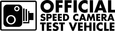 Official Speed Camera Test Vehicle Novelty Vinyl JDM / Drift / Sports Car / Window / Bumper Sticker / Decal