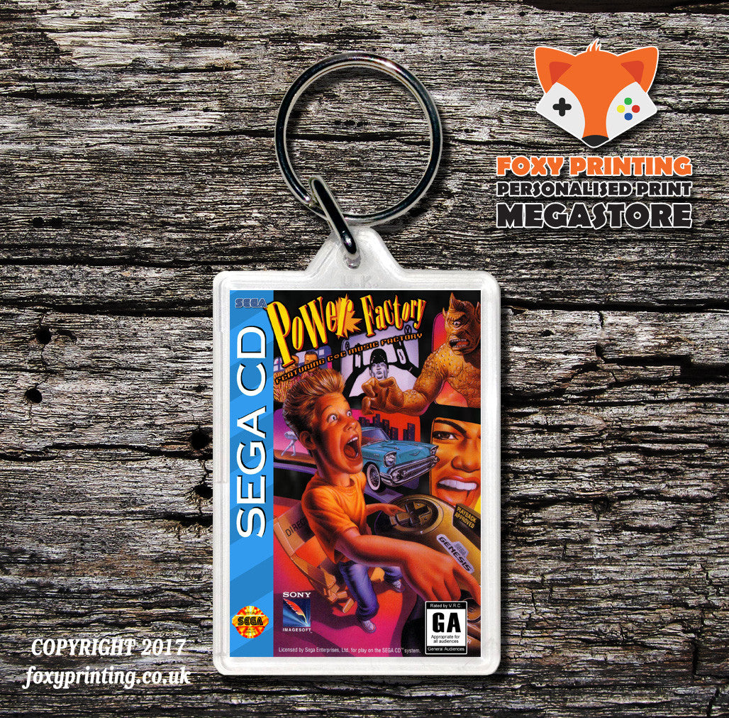 Power Factory Game Inspired Retro Gaming Keyring