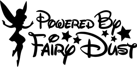 Powered By Fairydust Novelty Vinyl JDM / Drift / Sports Car / Window / Bumper Sticker / Decal
