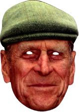 PRINCE PHILIP WITH HAT MASK JB - Royal Fancy Dress Cardboard Celebrity Party mask