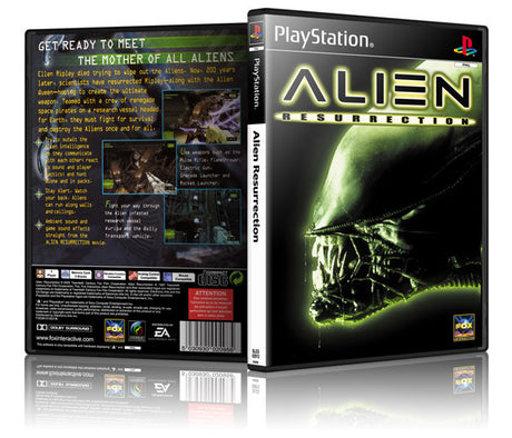 Alien Ressurection Game Cover To Fit A PS1 PLAYSTATION Style Replacement Game Case
