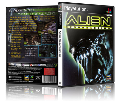Alien Ressurection 2 Game Cover To Fit A PS1 PLAYSTATION Style Replacement Game Case