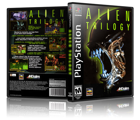 Alien Trilogy Game Cover To Fit A PS1 PLAYSTATION Style Replacement Game Case