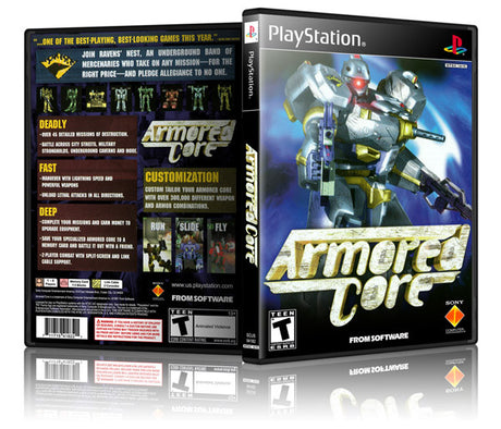 Armored Core Game Cover To Fit A PS1 PLAYSTATION Style Replacement Game Case