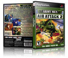 Army Men Air Attack 2 Game Cover To Fit A PS1 PLAYSTATION Style Replacement Game Case