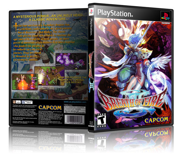 Breath Of Fire 2 Game Cover To Fit A PS1 PLAYSTATION Style Replacement Game Case (Copy)