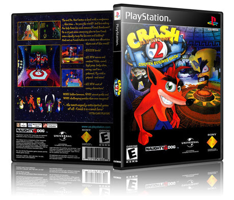 Crash Bandicoot 2 Game Cover To Fit A PS1 PLAYSTATION Style Replacement Game Case