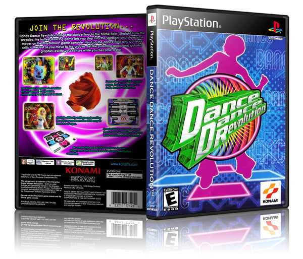 Dance Dance Revolution Game Cover To Fit A PS1 PLAYSTATION Style Replacement Game Case (Copy)