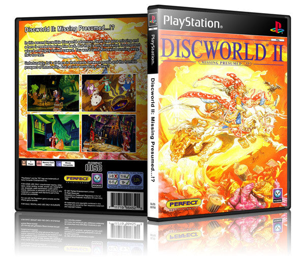 Discworld 2 Game Cover To Fit A PS1 PLAYSTATION Style Replacement Game Case