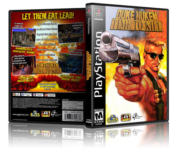 Duke Nukem Time To Kill Game Cover To Fit A PS1 PLAYSTATION Style Replacement Game Case