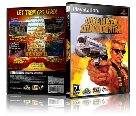 Duke Nukem Time To Kill Game Cover To Fit A PS1 PLAYSTATION Style Replacement Game Case 2