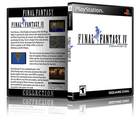 Final Fantasy IV Game Cover To Fit A PS1 PLAYSTATION Style Replacement Game Case 3