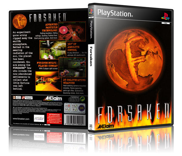 Forsaken Game Cover To Fit A PS1 PLAYSTATION Style Replacement Game Case